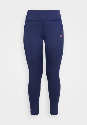 BUTT LIFT LEGGING - Legging - blue