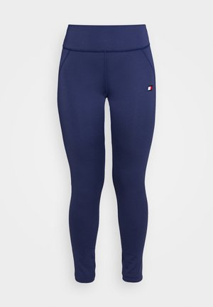 BUTT LIFT LEGGING - Legging - blue
