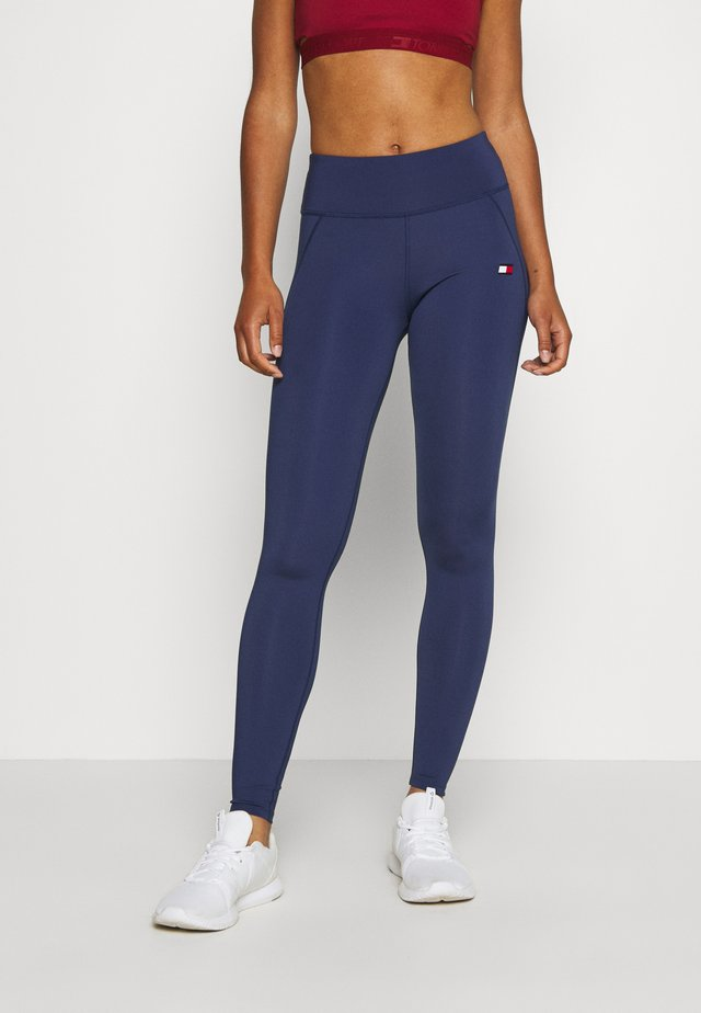BUTT LIFT LEGGING - Punčochy - blue