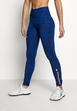 HIGH SUPPORT PRINTED LEGGING - Leggings - blue