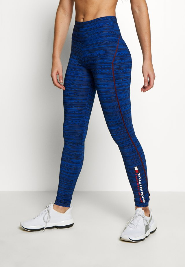 HIGH SUPPORT PRINTED LEGGING - Tights - blue