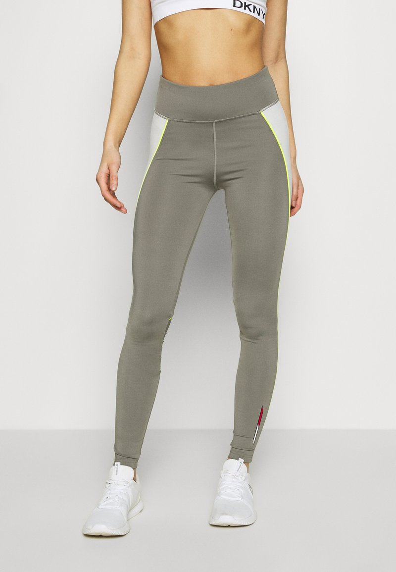Tommy Sport - HIGHWAIST TRAINING LEGGING - Leggings - grey