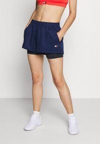 Tommy Sport - SHORT 2-IN-1 - Korte broeken - blue - 0