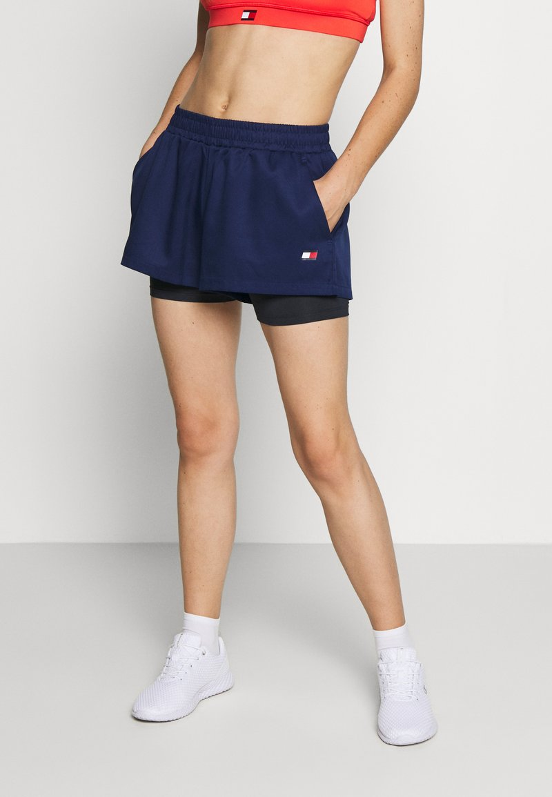 Tommy Sport - SHORT 2-IN-1 - Korte broeken - blue