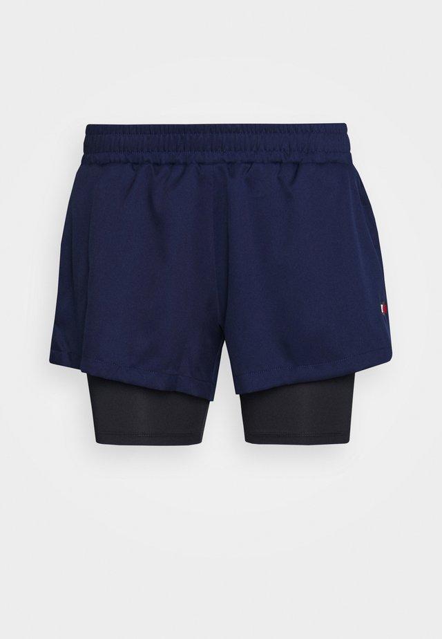 SHORT 2-IN-1 - Sports shorts - blue