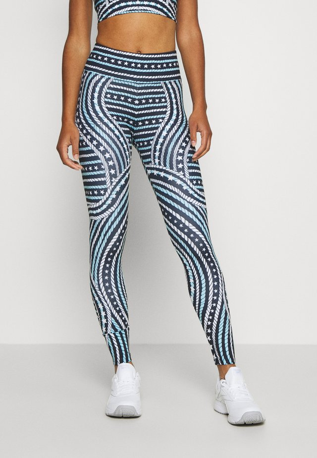 ENGINEERED PRINTED LEGGING - Punčochy - blue