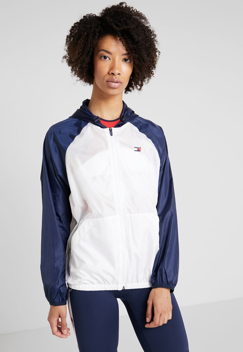 Tommy Sport - BLOCKED WITH LOGO - Cortaviento - white