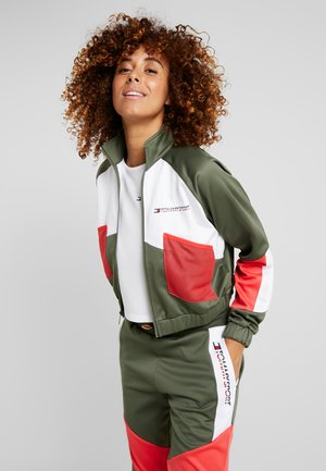 BLOCKED JACKET - Chaqueta de entrenamiento - green
