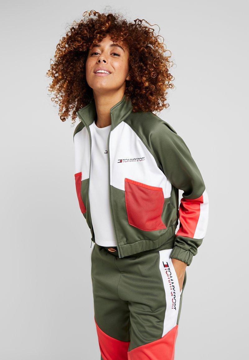 Tommy Sport - BLOCKED JACKET - Training jacket - green