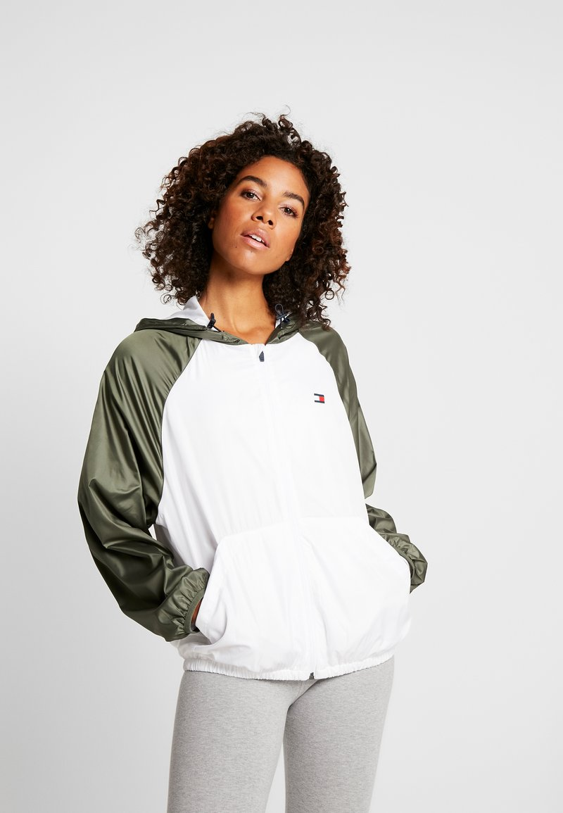 Tommy Sport - LINED WITH BACK LOGO - Veste coupe-vent - white