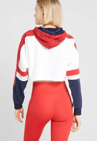 Tommy Sport - FLAG TAPE CROP HOODY - Hoodie - red