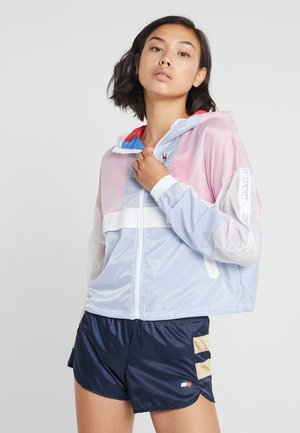 WITH TAPE - Veste coupe-vent - navy/peony
