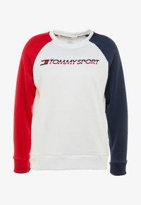 Tommy Sport - CREW COLORBLOCK LOGO - Sweatshirt - white - 4