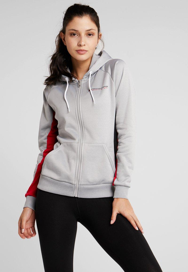 Tommy Sport - GRAPHIC HOODY - Zip-up hoodie - grey