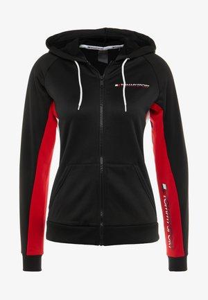 GRAPHIC HOODY - veste en sweat zippée - black