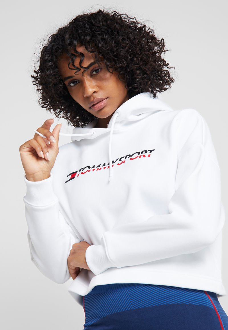 Tommy Sport - CROPPED HOODY - Sweat à capuche - white