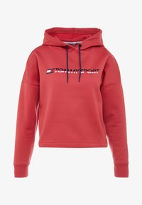 Tommy Sport - CROPPED HOODY - Huppari - red - 4