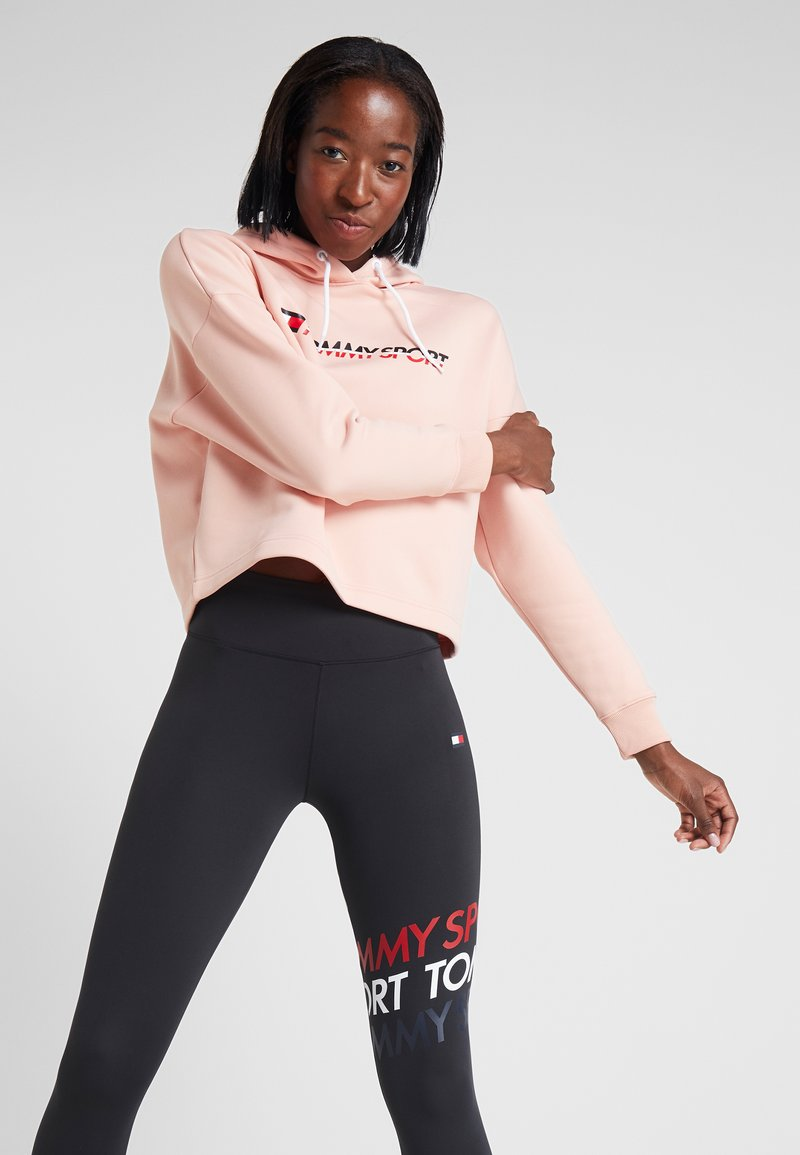 Tommy Sport - CROPPED HOODY - Jersey con capucha - pink