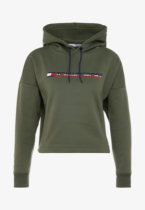 CROPPED HOODY - Huppari - green