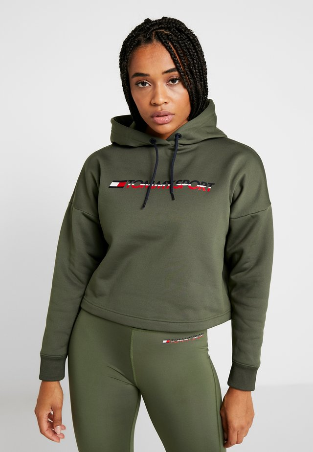 CROPPED HOODY - Mikina s kapucí - green