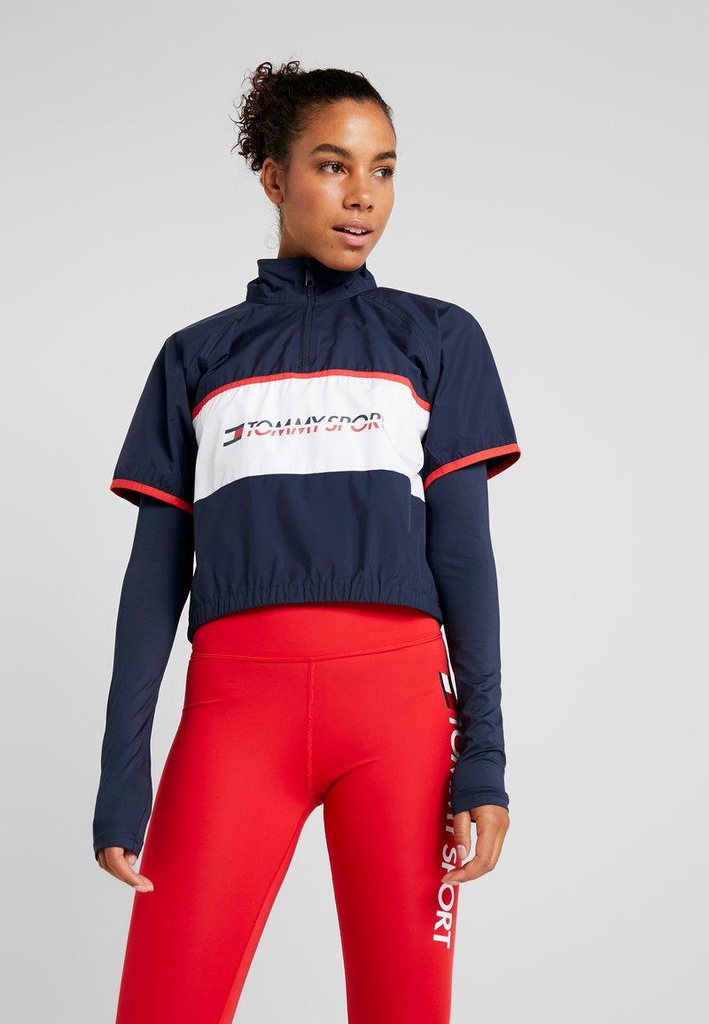 Tommy Sport - BLOCKED STARS ZIP SHELL - T-shirt à manches longues - blue