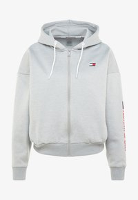 Tommy Sport - ZIP UP HOODY - Fleecejas - grey - 6