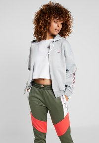 Tommy Sport - ZIP UP HOODY - Fleecejas - grey - 0
