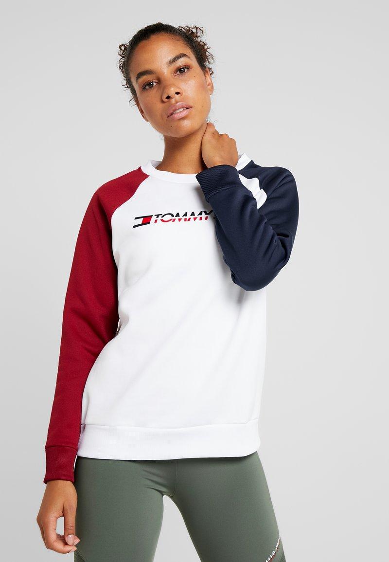 Tommy Sport - CREW NECK - Sweatshirt - white