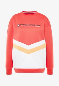 Tommy Sport - BLOCKED CREW LOGO - Sudadera - red - 5