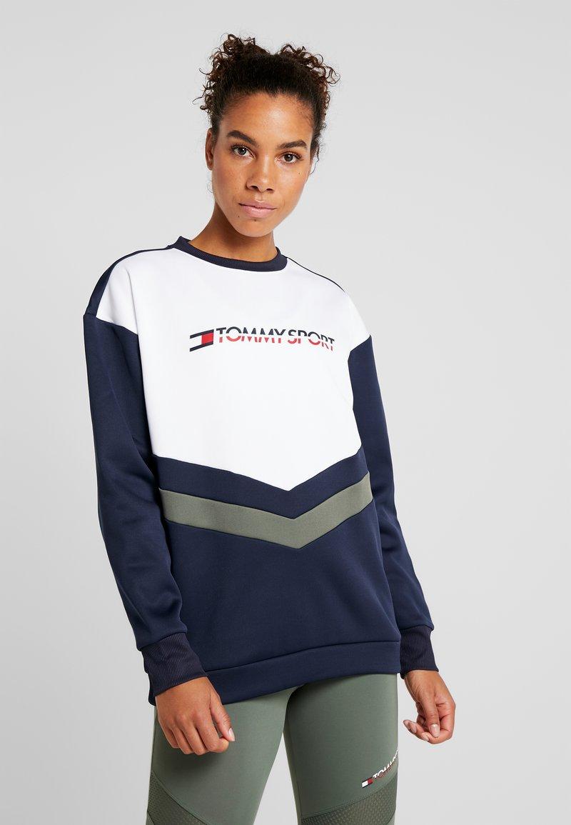 Tommy Sport - BLOCKED CREW LOGO - Sweatshirt - blue