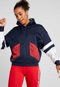 Tommy Sport - BLOCKED TERRY HOODY FULL ZIP - Zip-up hoodie - blue - 3