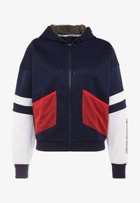 Tommy Sport - BLOCKED TERRY HOODY FULL ZIP - Zip-up hoodie - blue - 4