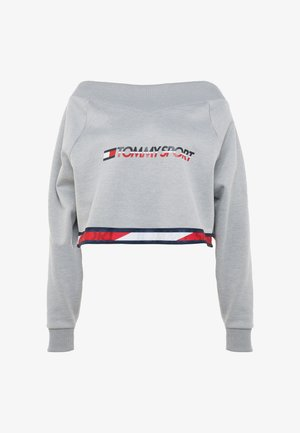 CROP WITH TAPE - Sweat polaire - grey