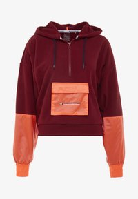 Tommy Sport - BLOCKED POLAR MIX HOODIE - Jersey con capucha - red - 5