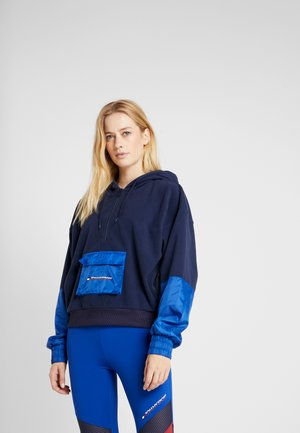 BLOCKED POLAR MIX HOODIE - Mikina s kapucí - blue