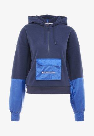 BLOCKED POLAR MIX HOODIE - Hoodie - blue