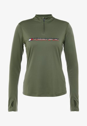 1/4 ZIP BASE LAYER TEE - T-shirt de sport - green