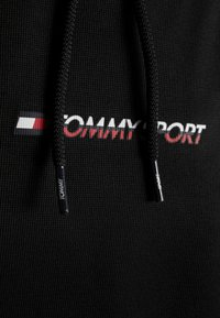 Tommy Sport - HOODY CROPPED WITH TAPE - Hoodie - black - 6