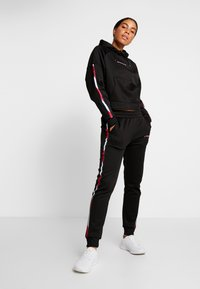 Tommy Sport - HOODY CROPPED WITH TAPE - Hoodie - black - 1
