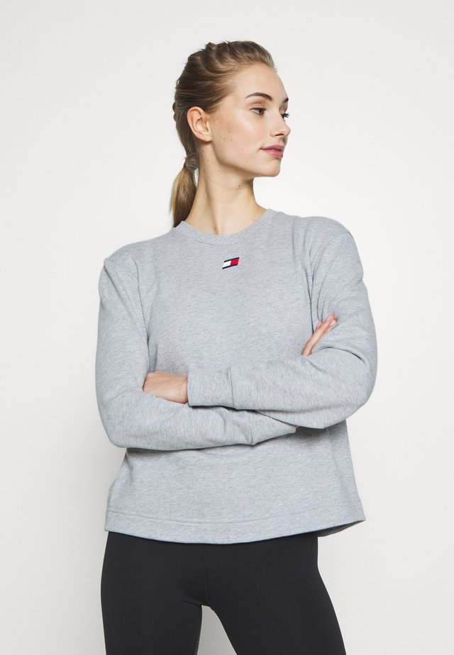 OPEN BACK TAPE CREW - Sweatshirt - grey