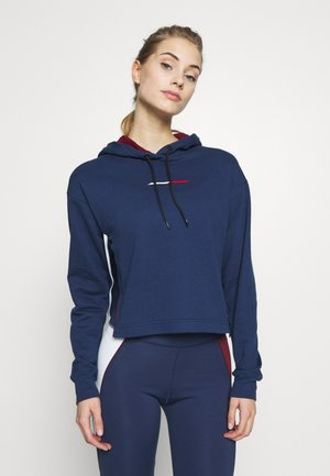 CROPPED HOODY LOGO - Jersey con capucha - blue
