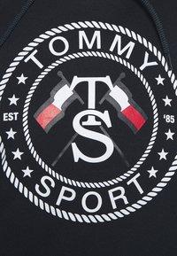 Tommy Sport - CROPPED HOODY - Kapuzenpullover - blue - 5