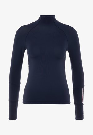 MOCK LONGSLEEVE BASELAYER - Long sleeved top - blue