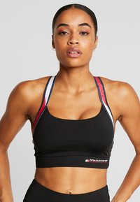 Tommy Sport - TAPE BRA MEDIUM IMPACT - Urheiluliivit - black - 4