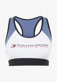 Tommy Sport - BLOCKED BRA MID - Sport BH - blue