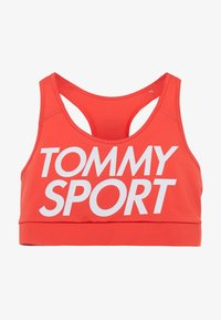 Tommy Sport - SPORTS BRA LOGO MID - Sport BH - red - 4