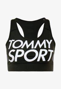 Tommy Sport - SPORTS BRA LOGO MID - Sport BH - black - 4