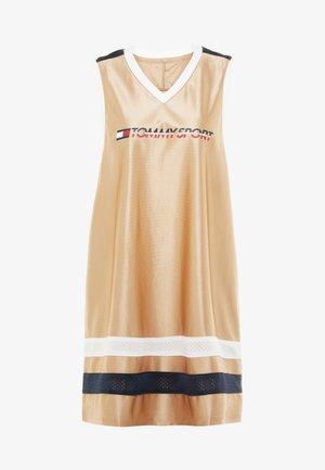 ARCHIVE DRESS LOGO - Urheilumekko - gold