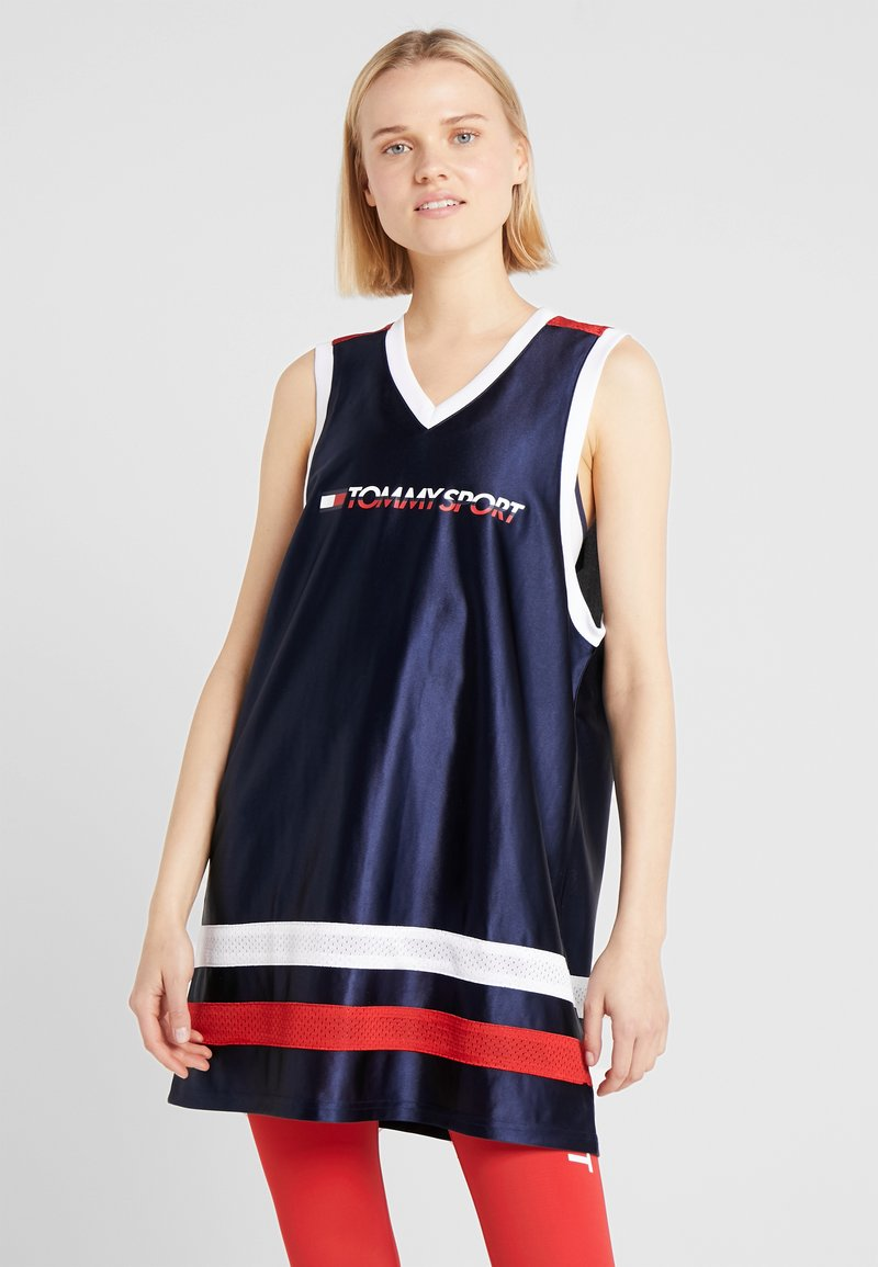 Tommy Sport - ARCHIVE DRESS LOGO - Sports dress - blue