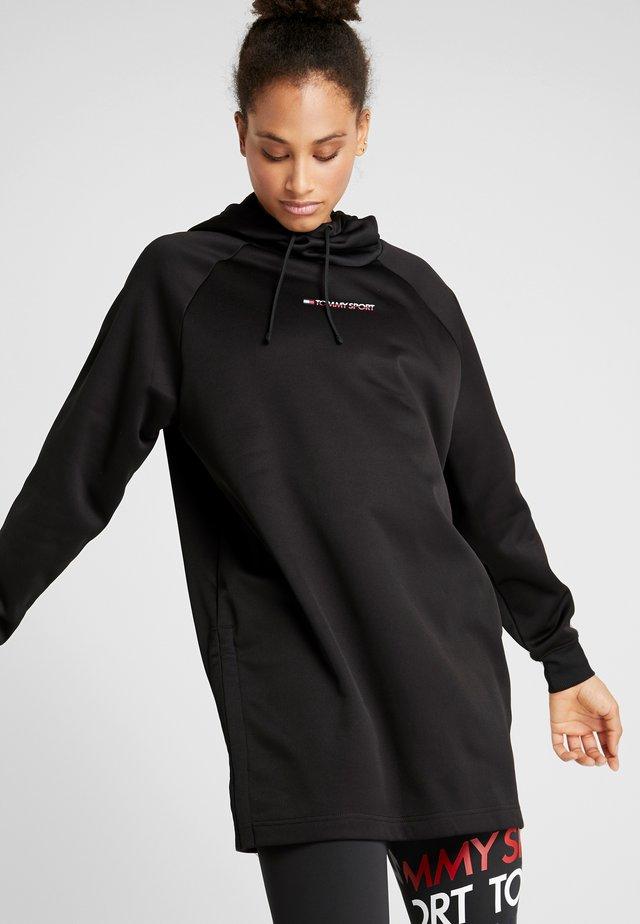 DRESS WITH TAPE - Urheilumekko - black